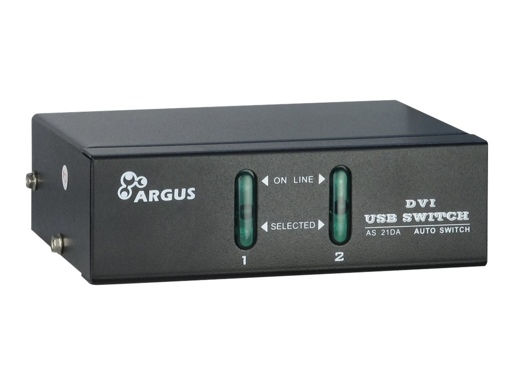 Argus KVM-AS-21DA - KVM-/Audio-Switch - USB - 2 x KVM/Audio - Desktop