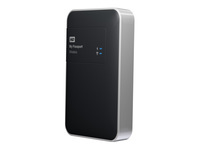 WD My Passport Wireless WDBK8Z0010BBK - Network drive - 1 TB - HDD 1 TB x 1 - USB 3.0 / 802.11n