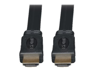 Tripp Lite 10ft High Speed HDMI Cable Digital Video with Audio Flat Shielded 4K x 2K M/M 10' - HDMI cable - 3 m