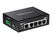 TRENDnet TI-G50 Switch unmanaged 5 x 100/1000/10000 DIN rail mountable, wall-mountable