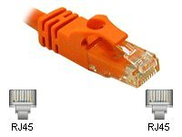 C2G 14ft Cat6 Snagless Unshielded UTP Network Crossover Patch Cable Orange - crossover cable - 4.27 m - orange