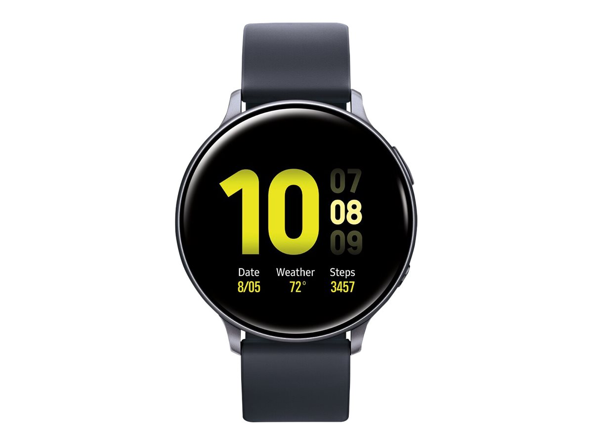 Samsung Galaxy Watch Active 2 - aqua black aluminum - smart watch with band - 4 GB