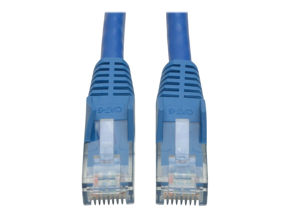 Tripp Lite 10ft Cat6 Gigabit Snagless Molded Patch Cable RJ45 M/M Blue 10' - patch cable - 3 m - blue
