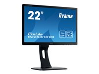 "Iiyama ProLite B2283HS-B3 - LED monitor - 21.5"" - 1920 x 1080 Full HD (1080p) - TN - 250 cd/m² - 1000:1 - 1 ms - HDMI, VGA, DisplayPort - speakers - black"