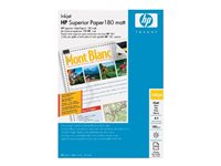 HP Brochure and Flyer Paper - Mat - A4 (210 x 297 mm) - 180 g/m² - 100 feuille(s) papier - pour Envy 5055, 7645; Officejet 5255, 6000 E609, 7500; PageWide MFP 377; PageWide Pro 452