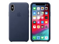 Apple - Back cover for mobile phone - leather - midnight blue - for iPhone Xs