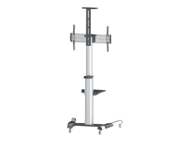 "Image of Manhattan Monitor/LFD Trolley Stand, 1 screen, 37-70"", Vesa 200x200 to 600x400mm, Max 50kg, Silver - cart"