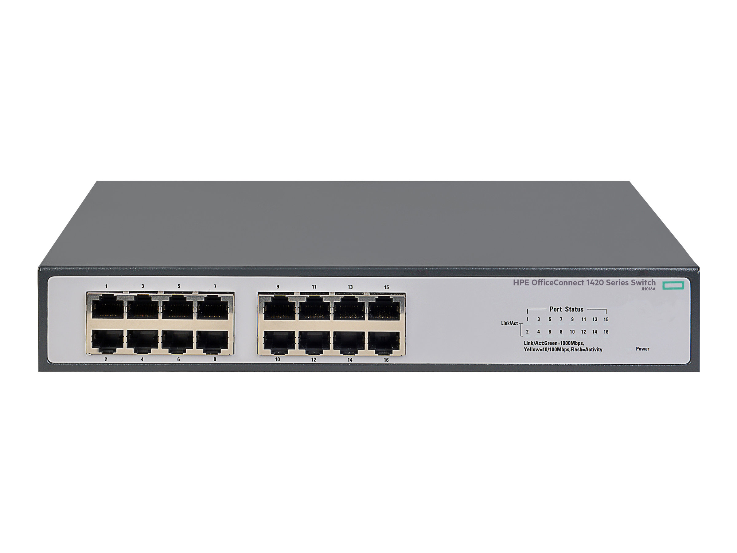 HPE 1420-16G - switch - 16 ports - unmanaged - rack-mountable