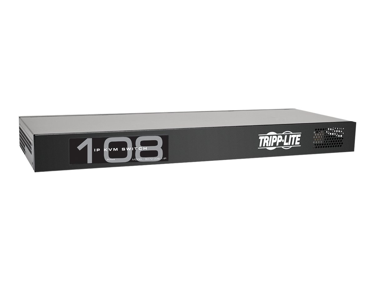 Tripp Lite 8-Port IP Cat5 KVM Switch Compact 1+1 User Rackmount - KVM switch - 8 ports - rack-mountable