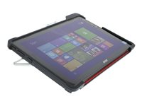 Gumdrop DropTech Series Back cover for tablet rugged silicone black/red -