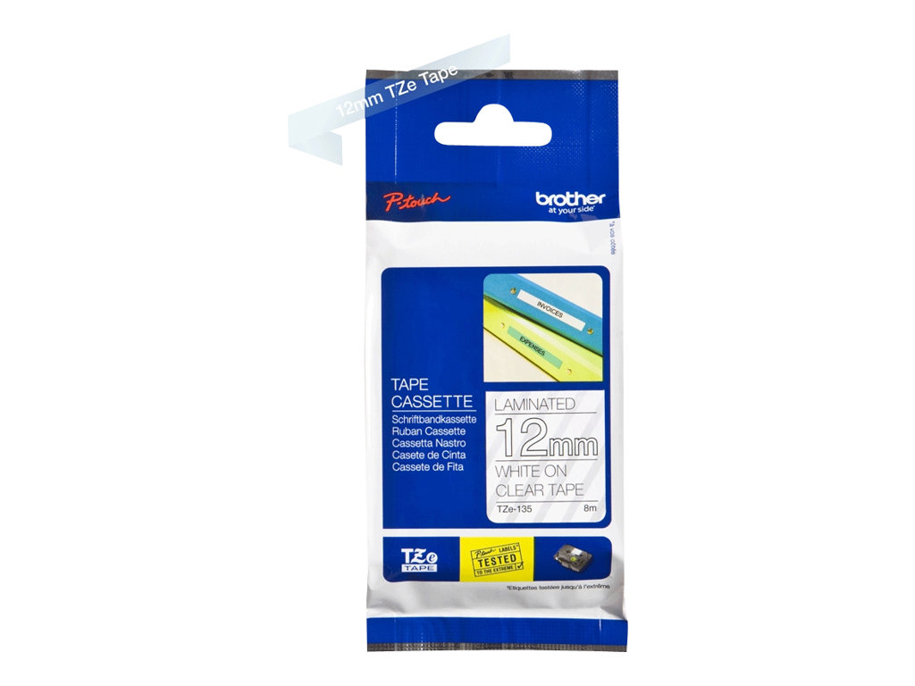 Brother TZe-135 - laminated tape - 1 roll(s) - Roll (1.2 cm x 8 m)