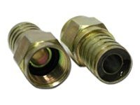 C2G Hex Crimp F-Type Connector for RG6 - antenna connector