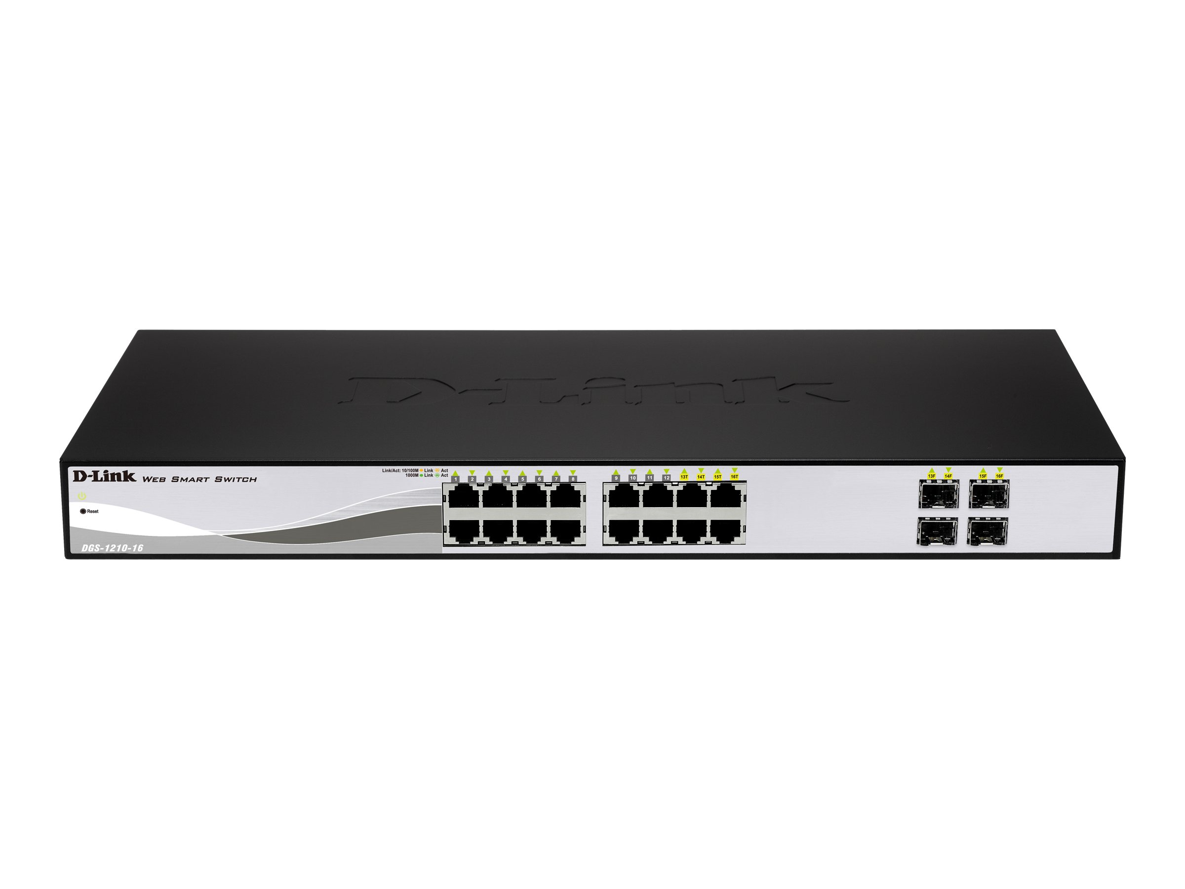D-Link Web Smart DGS-1210-16 - Switch - verwaltet - 16 x 10/100/1000 + 4 x Shared SFP - Desktop