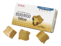 Xerox Phaser 8500/8550 - 3 - jaune - encres solides - pour Phaser 8500DN, 8500N, 8550DP, 8550DT, 8550DX