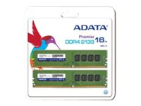 ADATA Premier Series - DDR4 - 16 GB: 2 x 8 GB - DIMM 288-PIN - 2133 MHz / PC4-17000 - CL15