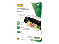 Fellowes Glossy 50-pack clear 11.5 in x 9.02 in lamina