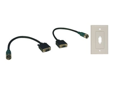 Tripp Lite Easy Pull Type-A VGA Connector Kit RGB with Faceplate M/F - VGA cable kit - 30 cm