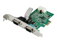 StarTech.com 2-port PCI Express RS232 Serial Adapter Card - PCIe to Dual Serial DB9 RS-232 Controller - 16950 UART - Windows macOS Linux - Serial adapter - PCIe - RS-232 x 2