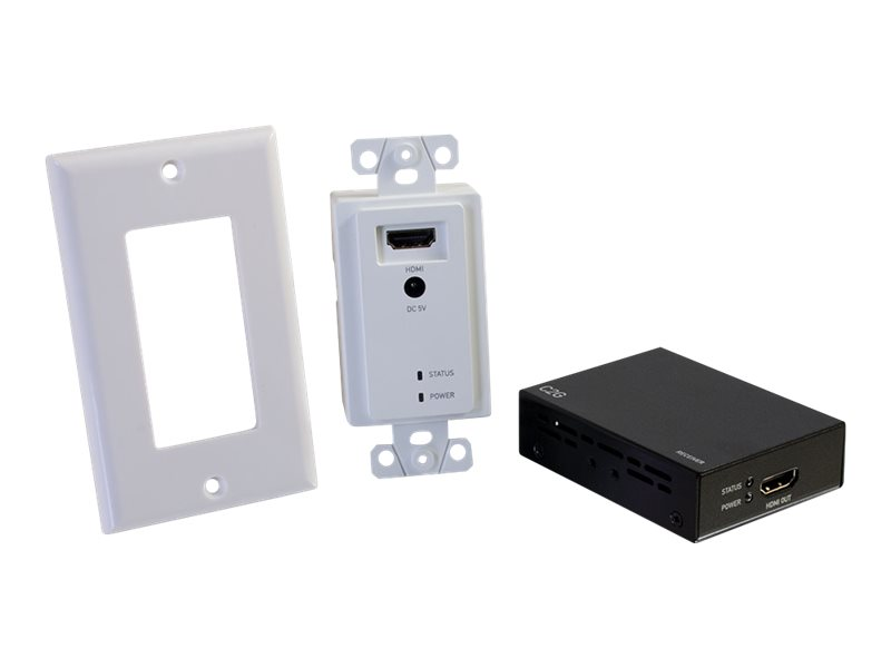 C2G HDMI over Cat5/Cat6 Extender - Wall Plate to Box Kit - video/audio extender