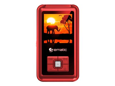 Ematic EM208VID Digital player 8 GB red