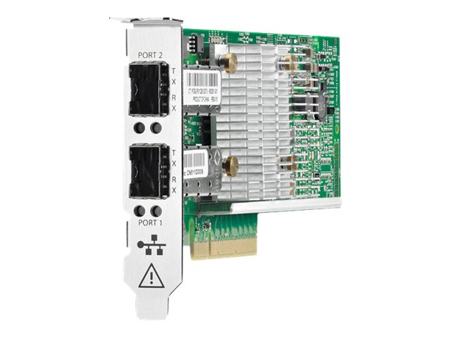 HPE 530SFP+ - Netzwerkadapter - PCIe 3.0 x8 Low Profile - 10Gb Ethernet x 2 - für ProLiant DL20 Gen9, DL360 Gen10, DL560 Gen9, ML30 Gen9, XL170r Gen9; StoreEasy 3850