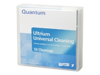 Quantum - LTO Ultrium - bar code labeled - black - cleaning cartridge