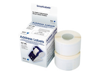 Seiko Instruments SLP-2RLH - Address labels - white - 28 x 89 mm 520 label(s) ( 2 roll(s) x 260 ) - for Smart Label Printer 100, 120, 200, 220, 240