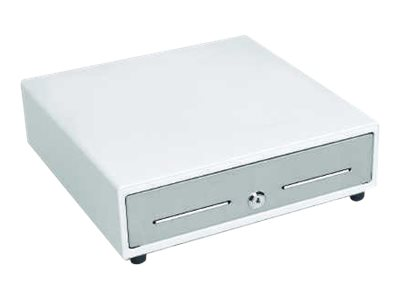 MMF VAL-u Line Electronic cash drawer white, stainless steel