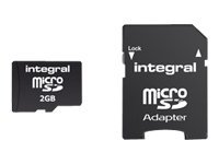 Integral - Carte mémoire flash (adaptateur SD inclus(e)) - 2 Go - micro SD