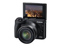 Canon EOS M3 - Digital camera - mirrorless - 24.2 MP - APS-C - 1080p / 30 fps - body only - Wi-Fi, NFC - black