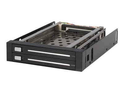 StarTech.com 2 Drive 2.5in Trayless Hot Swap SATA Mobile Rack Backplane Storage bay adapter