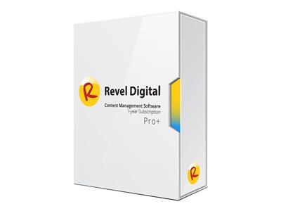 Revel Digital CMS Pro+ Subscription Plan License Key (1 year) 1 device hosted