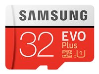 Samsung EVO Plus MB-MC32G - Flash memory card (microSDHC to SD adapter included)