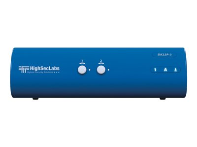 HighSecLabs Secure DK22P-3 Dual-Head KVM / audio switch 2 x KVM / audio 1 local user