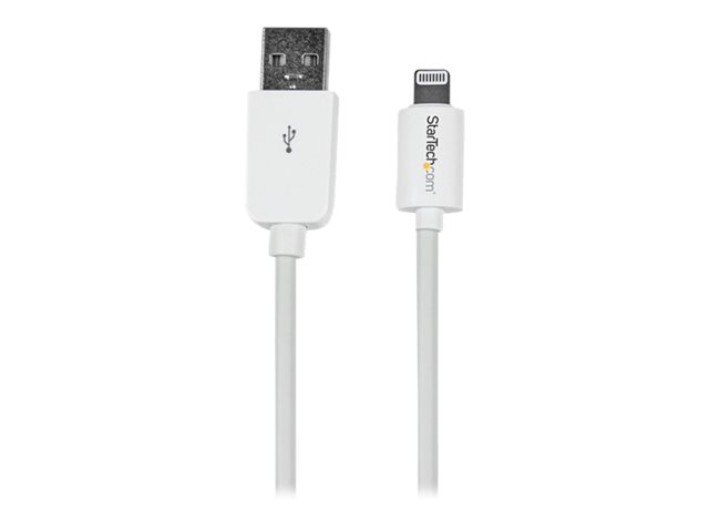 StarTech.com 15cm (6in) Short White Apple® 8-pin Lightning Connector to USB Cable for iPhone / iPod / iPad - Charge and Sync Cable (USBLT15CMW)