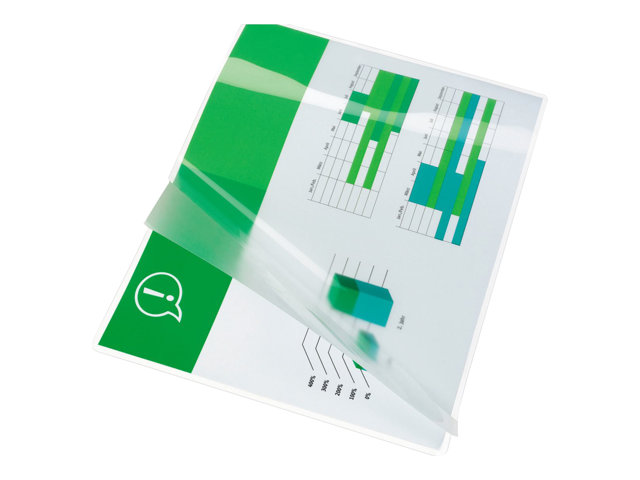Image of GBC Document Laminating Pouch - 100-pack - glossy - 216 x 303 mm - lamination pouches