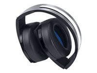 Sony Platinum Wireless Headset - Headset - on-ear - wireless - for Sony PlayStation 4, Sony PlayStation 4 Pro, Sony PlayStation 4 Slim