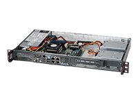 Rack-mountable - 1U - mini ITX - non-hot-swap 200 Watt - black