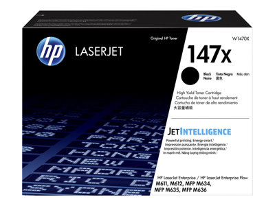 HP 147X - High Yield - black - original - LaserJet - toner cartridge (W1470X)
