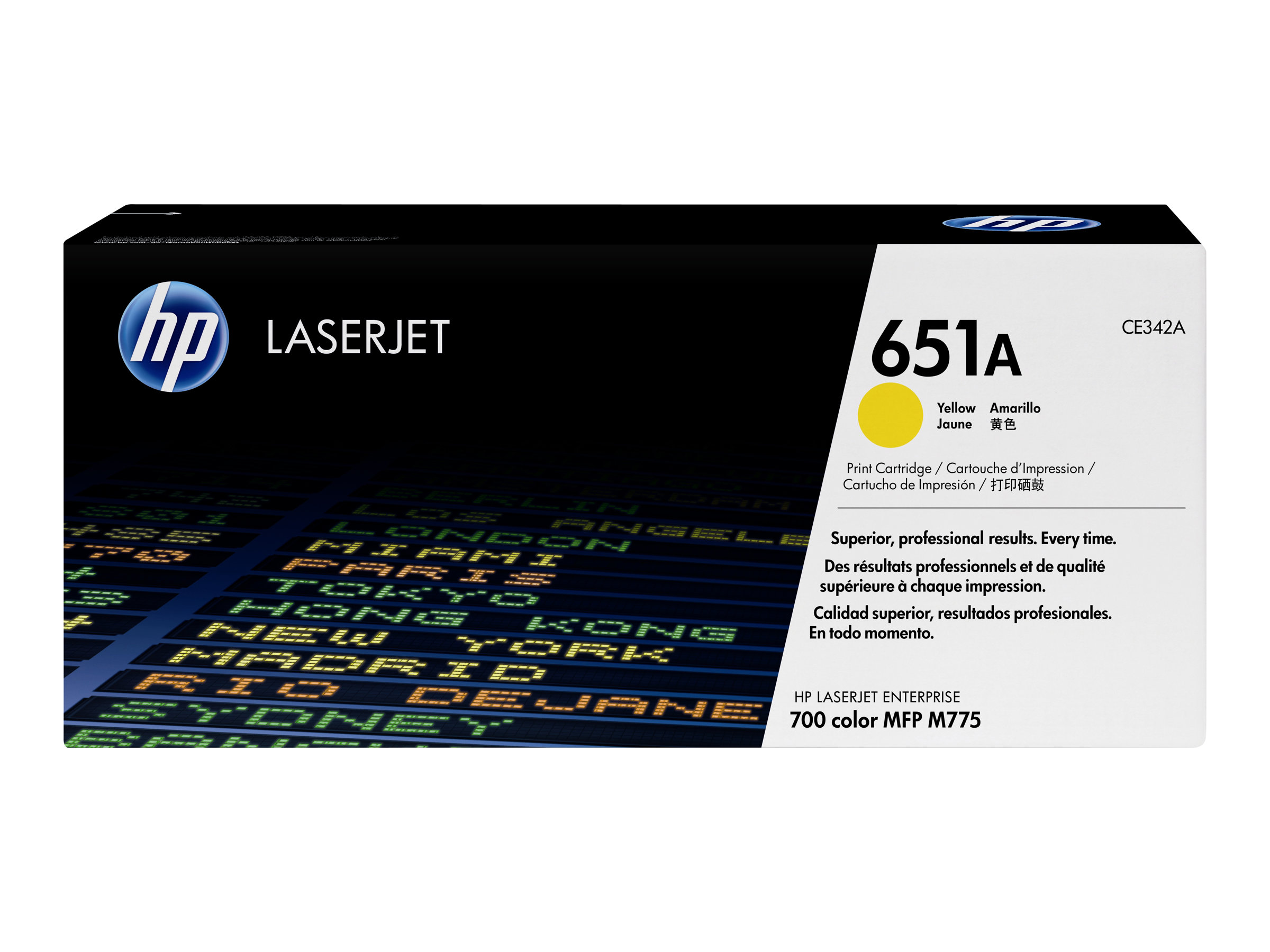 HP 651A - yellow - original - LaserJet - toner cartridge (CE342A)