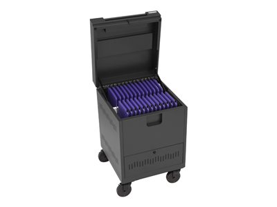 Bretford Cube Toploader Mini Cart (charge only) for 20 devices lockable prime steel sky