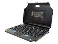 Gamber Johnson 2-in-1 Keyboard and folio case with touchpad POGO pin English US