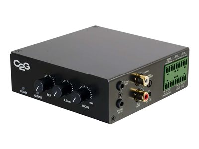 C2G 25/70V 50W Audio Amplifier (Plenum Rated) Amplifier 50 Watt (total)