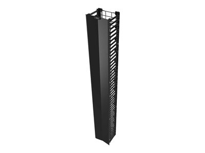 Legrand Q-Series Vertical Manager, 7FEET H X 12INCH W Rack cable management panel black 45U