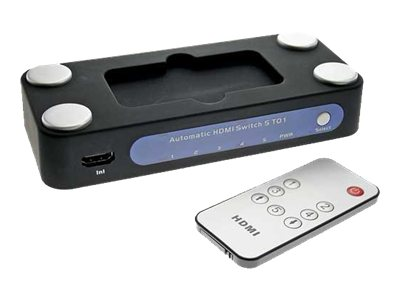 InLine HDMI automatic switch - Video/Audio-Schalter - 5 x HDMI - 1 lokaler Benutzer - Desktop
