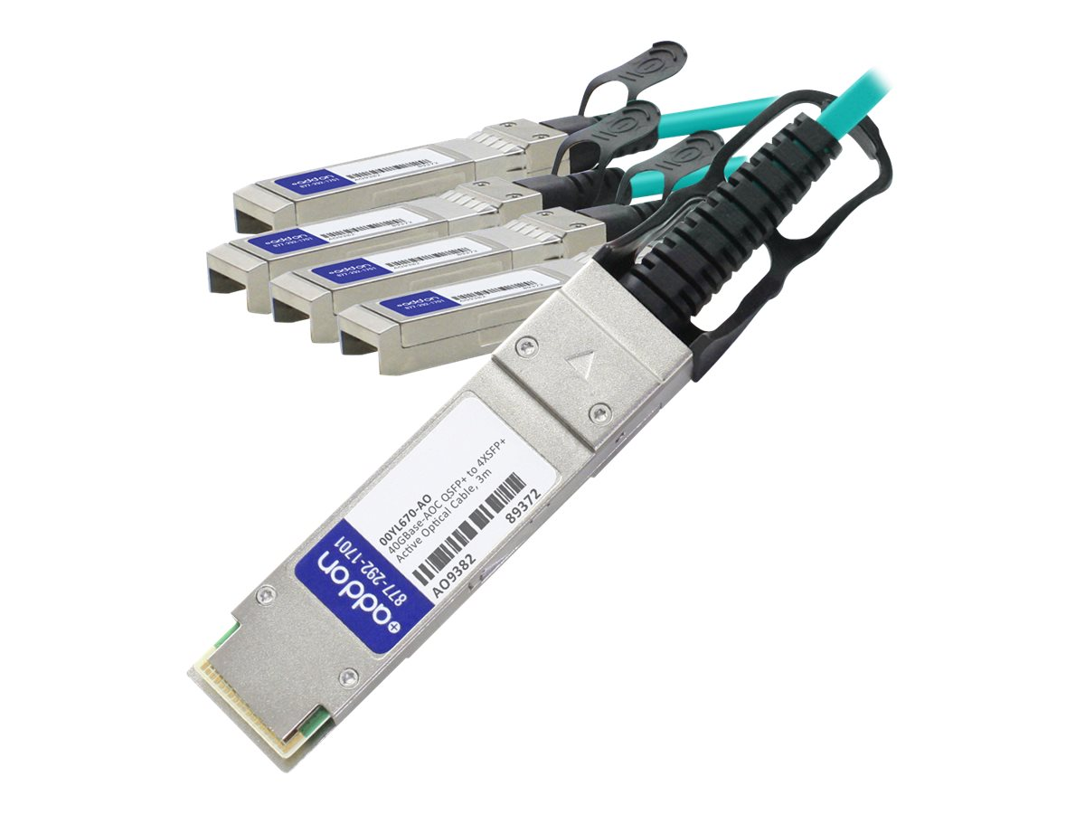 AddOn 40GBase-AOC direct attach cable - TAA Compliant - 3 m