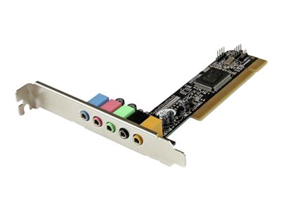 StarTech.com 5.1 Channel PCI Surround Sound Card Adapter - Sound card - 16-bit - 48 kHz - 5.1 - PCI - CMI-8738 LX
