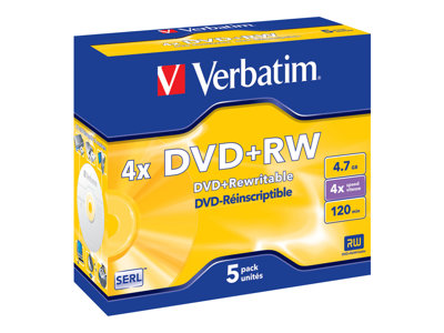 DataLifePlus - DVD+RW x 5 - 4.7 Go - support de stockage