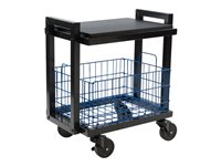 ürb SPACE Trolley 2 shelves 2 tiers powder-coated steel black