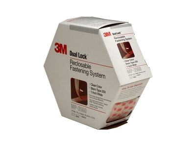 3M Dual Lock MP3560 Self-adhesive hook-and-loop fastener (hook only) 1 in x 15 ft clear